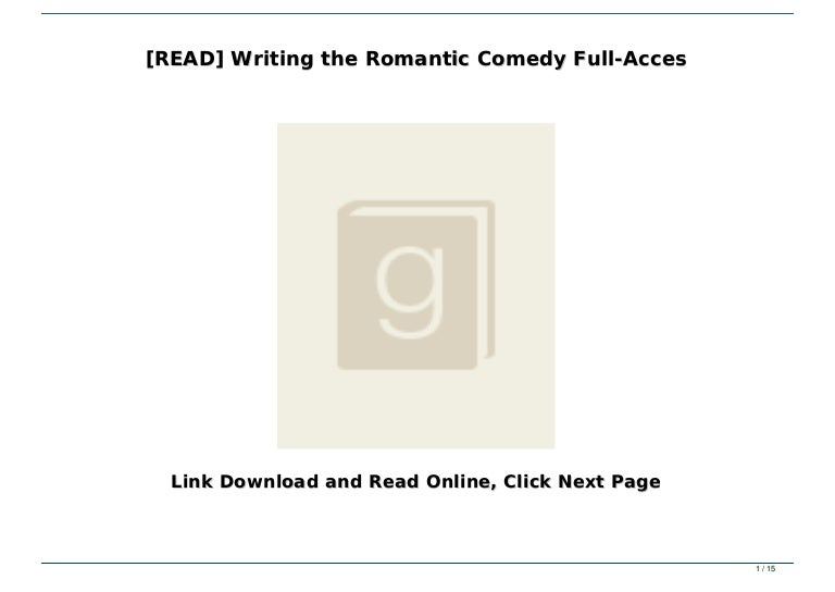 Billy mernit writing the romantic comedy pdf writer 4th edition