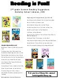 2nd grade summer reading recommendations