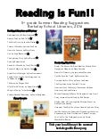 Summer Reading List: 5th grade 2016