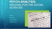 Reading the social sciences