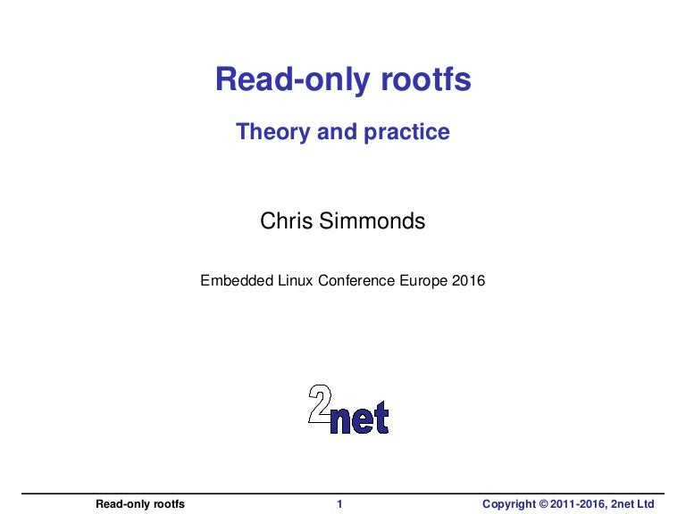 Read-only rootfs: theory and practice