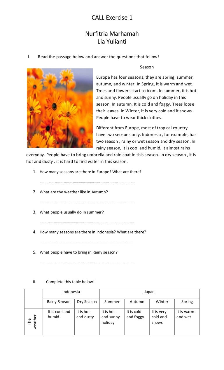 Worksheet Read The Passage And Answer The Questions read the passage below and answer questions that follow