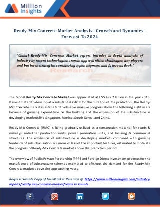 Ready mix concrete market analysis growth and dynamics forecast to 2024