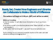 Ready, Set, Create! How Engineers and Libraries Can Collaborate to Make a World of Difference