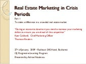 Real Estate Marketing In Crisis Periods New