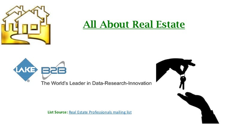 Real estate professionals email list