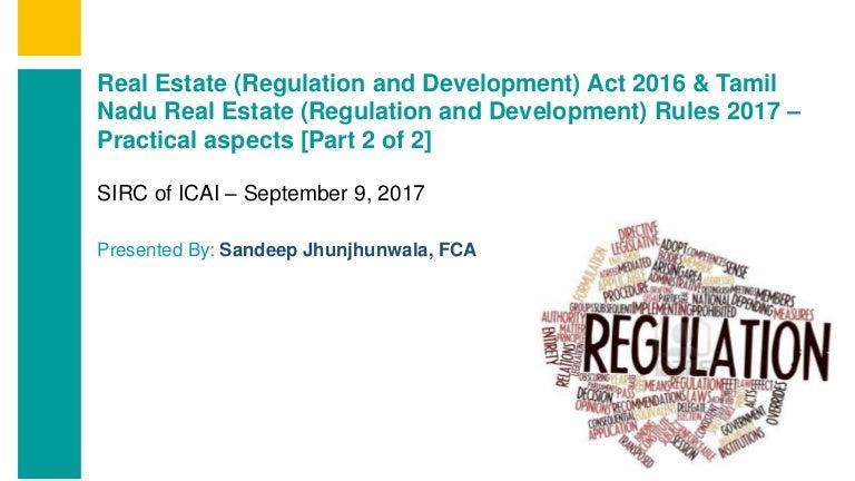Tamil Nadu RERA Rules - Sandeep Jhunjhunwala FCA