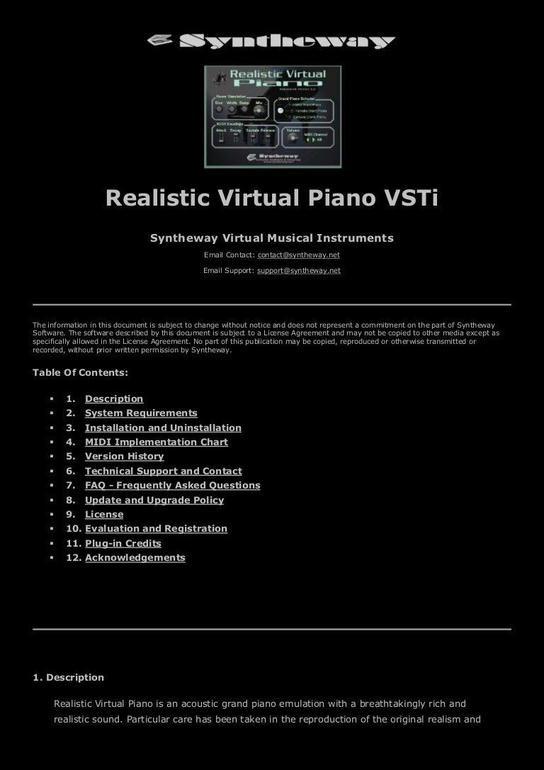 Syntheway Realistic Virtual Piano VSTi Software: Kawai, Steinway and …