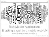 Real Time Mobile Web V0.2