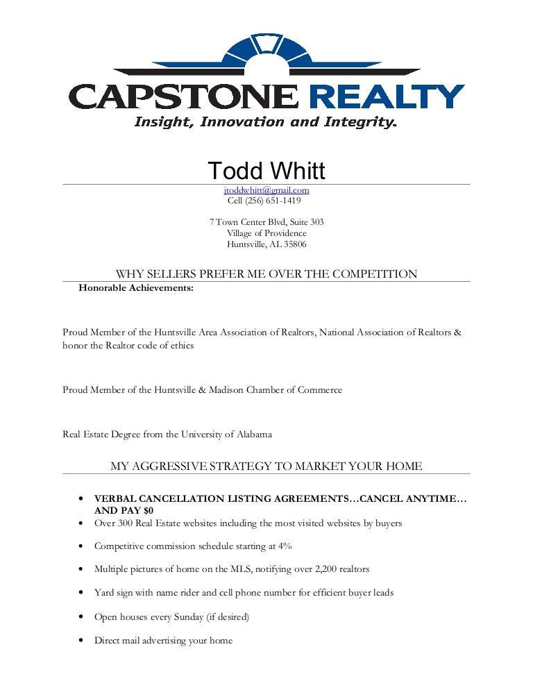 my realtor resume - Realtor Resume