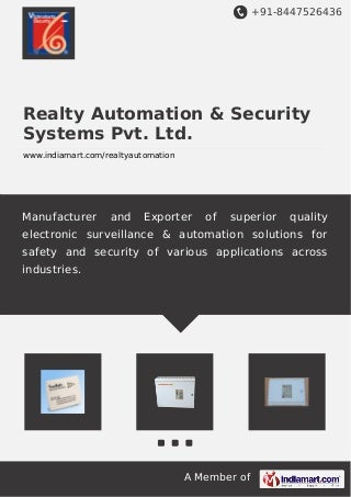 Realty Automation & Security Systems Pvt. Ltd., Pune, Electronic Security System
