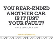 Whose Fault Is It For a Rear-End Car Accident?
