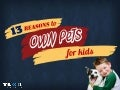 13 Reasons to own Pets for Kids – Building Good Manners for Kids