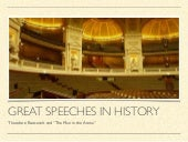 Great Speeches in History: The Man in the Arena