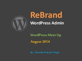 Rebrand WordPress Admin