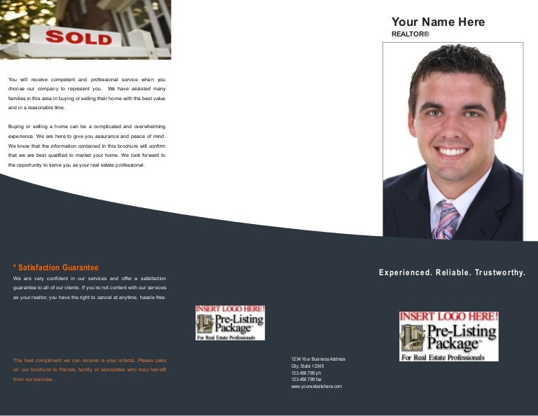 Real Estate Presentation Brochure Template