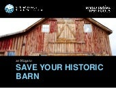 10 Ways to Save Your Historic Barn