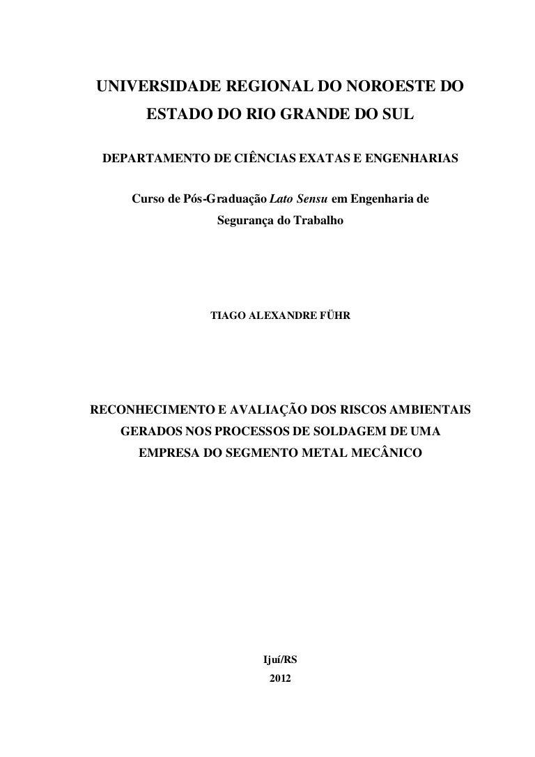 Rec0onhecimento e avaliação riscos solda cc6e9ef7c7
