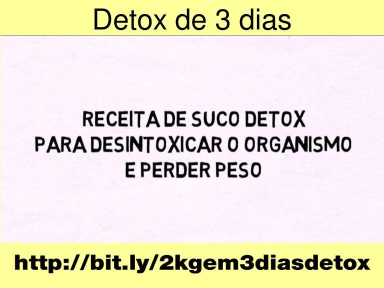dieta 3 dias detox