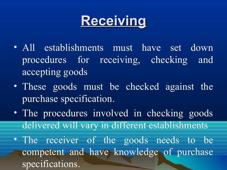 Receiving – Goods Received Note Format
