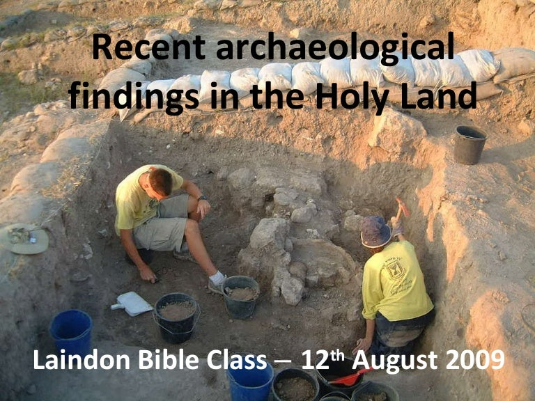Archaeology in the Holy Land