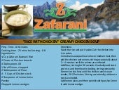 "Basmati Rice Zafarani ""Rice with Chicken"" Creamy Chicken Soup"