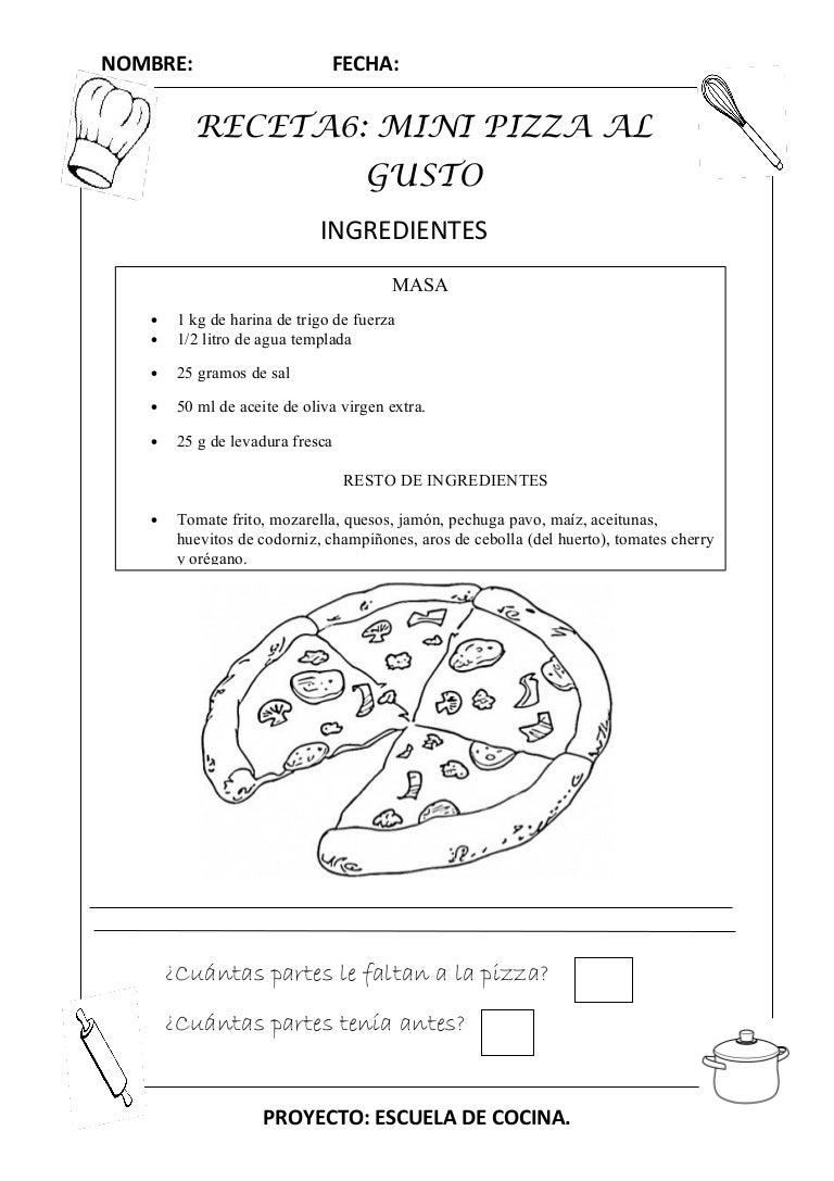 Recetas de cocina en ingles de pizza