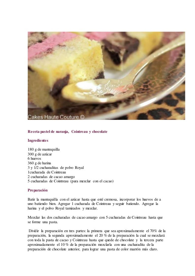 Image Result For Receta De Pastel De