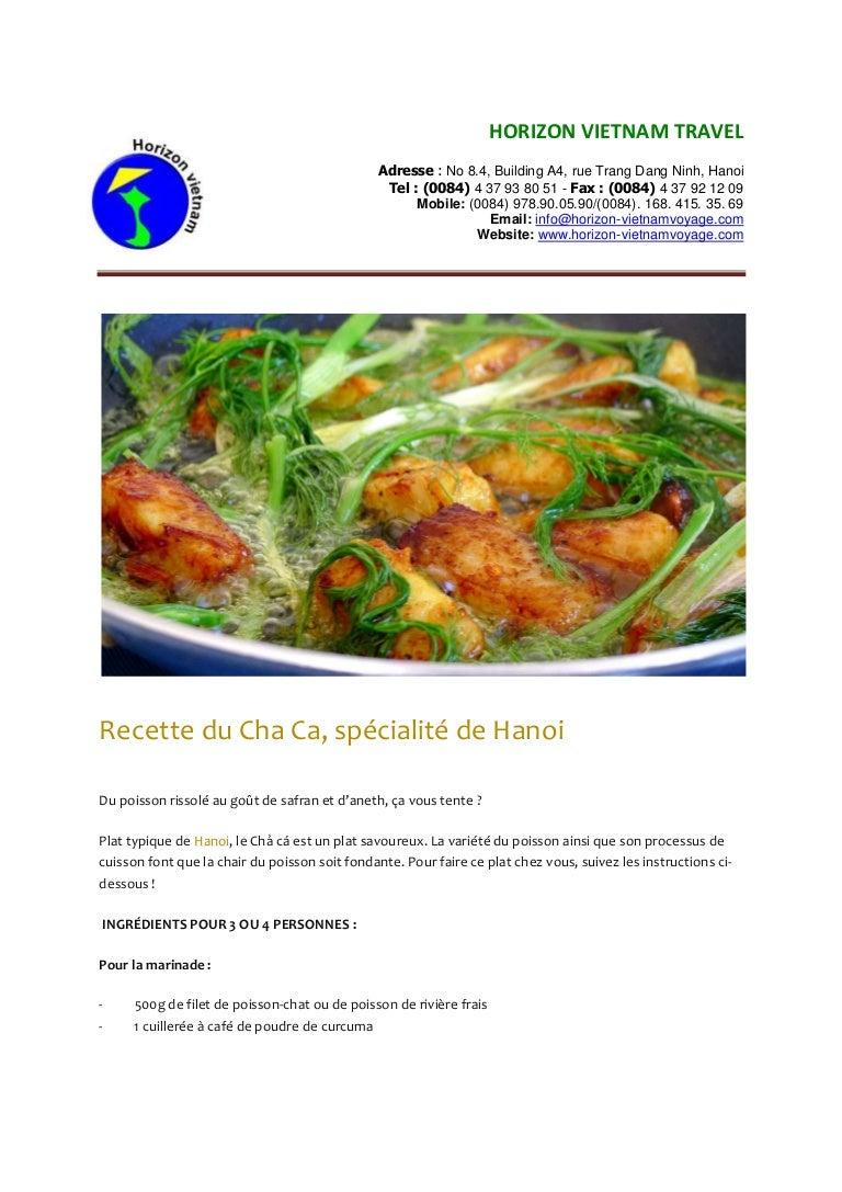 Image De Plat De Cuisine recette du cha ca, spécialité de hanoi - recette de cuisine