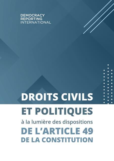 Recherche sur l'article 49