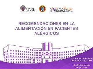 Sesión Académica del CRAIC: Recomendaciones en la alimentación en pacientes alérgicos