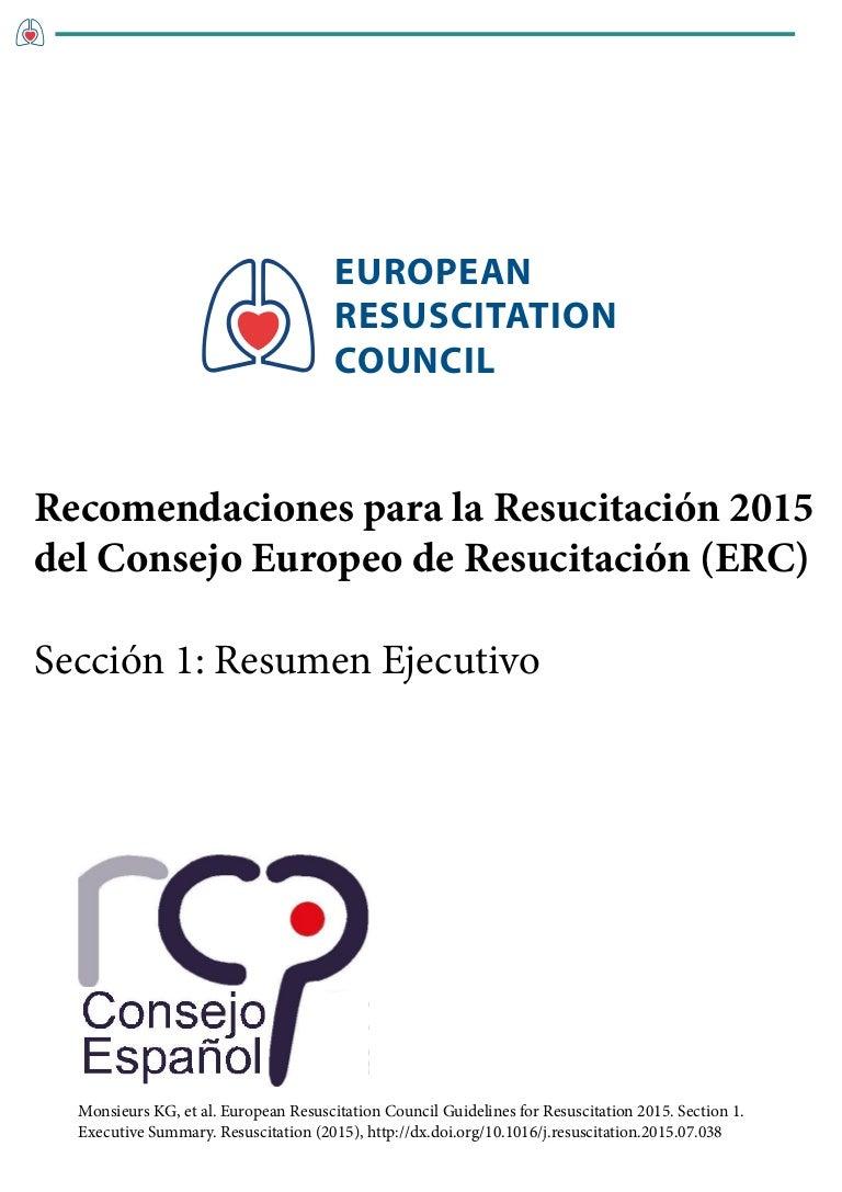 Recomendaciones ERC 2015. Resumen ejecutivo