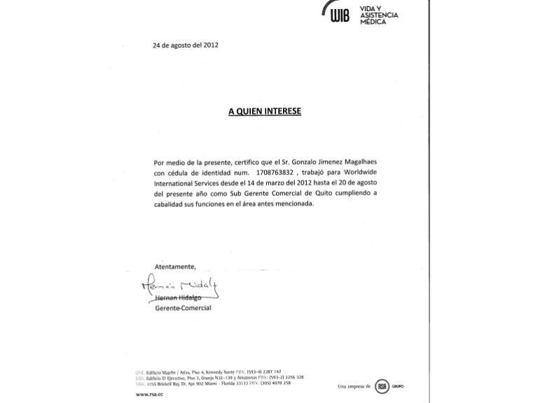 recomendacion laboral rsa wib