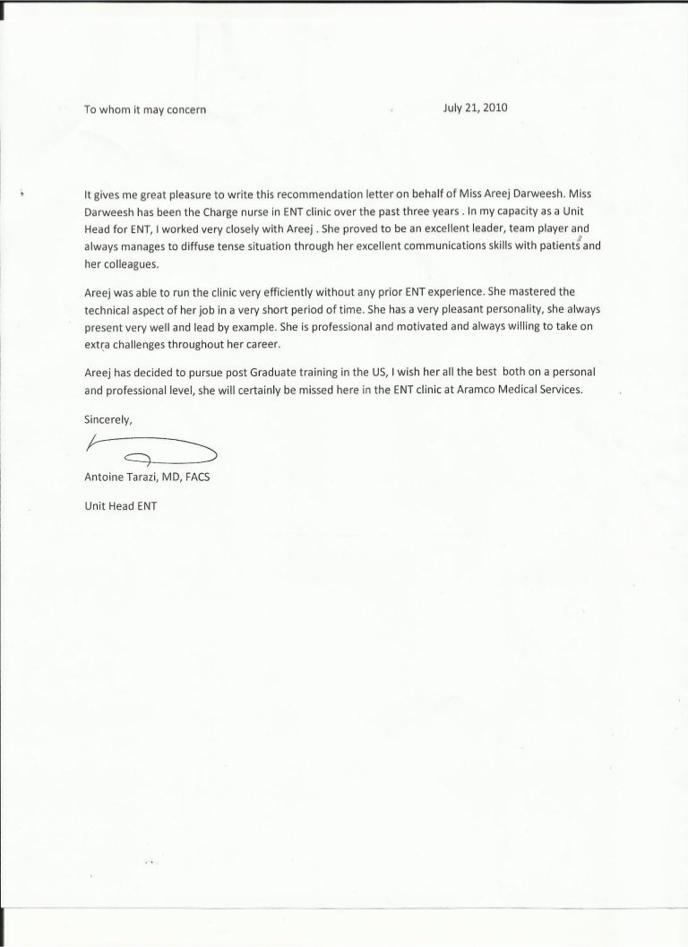 saudi aramco medical services organisation letter of recommendation