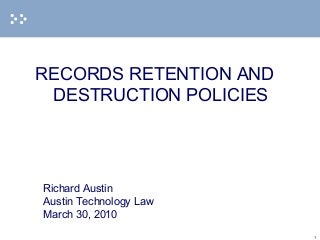 Why is the retention period of a document important?