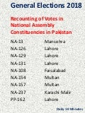 Recounting Votes in Pakistani Constituencies
