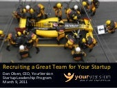 Recruiting a Great Team for your Startup by Dan Olsen