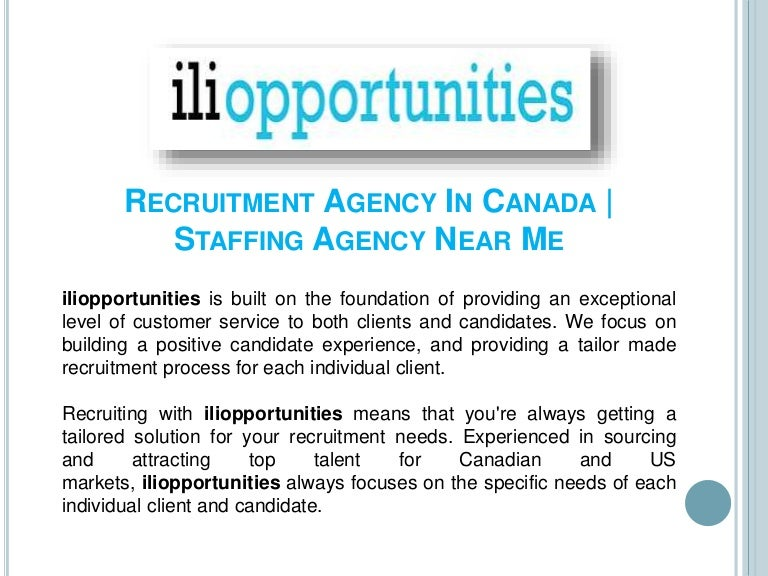 Recruitment Agency in Canada | Staffing Agency Near Me