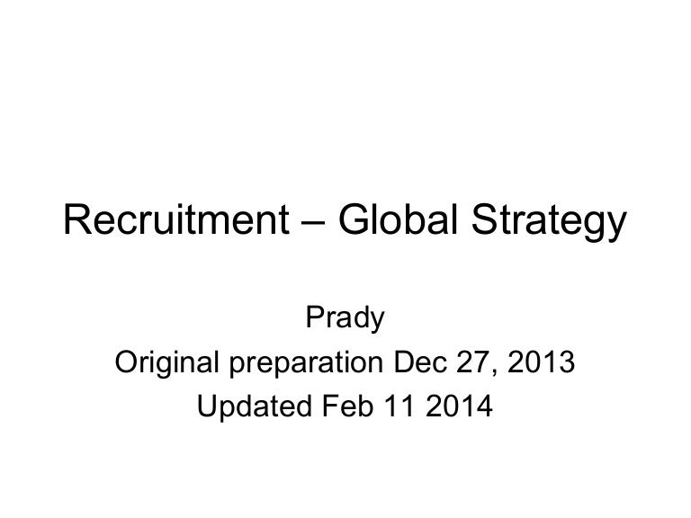 Recruitment  Global Strategy General
