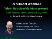 Talent Relationship Management part of the SAAA Recruitment model