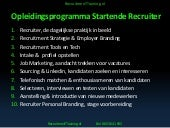 Recruitment training.nl Opleidingsprogramma Startende Recruiter