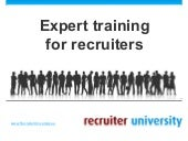 Expert training for recruiters by Recruiter University