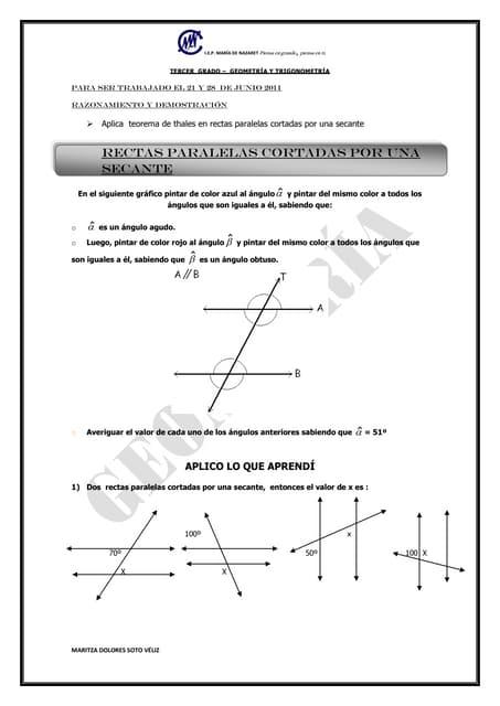 Paralelas cortadas por una secante pdf download