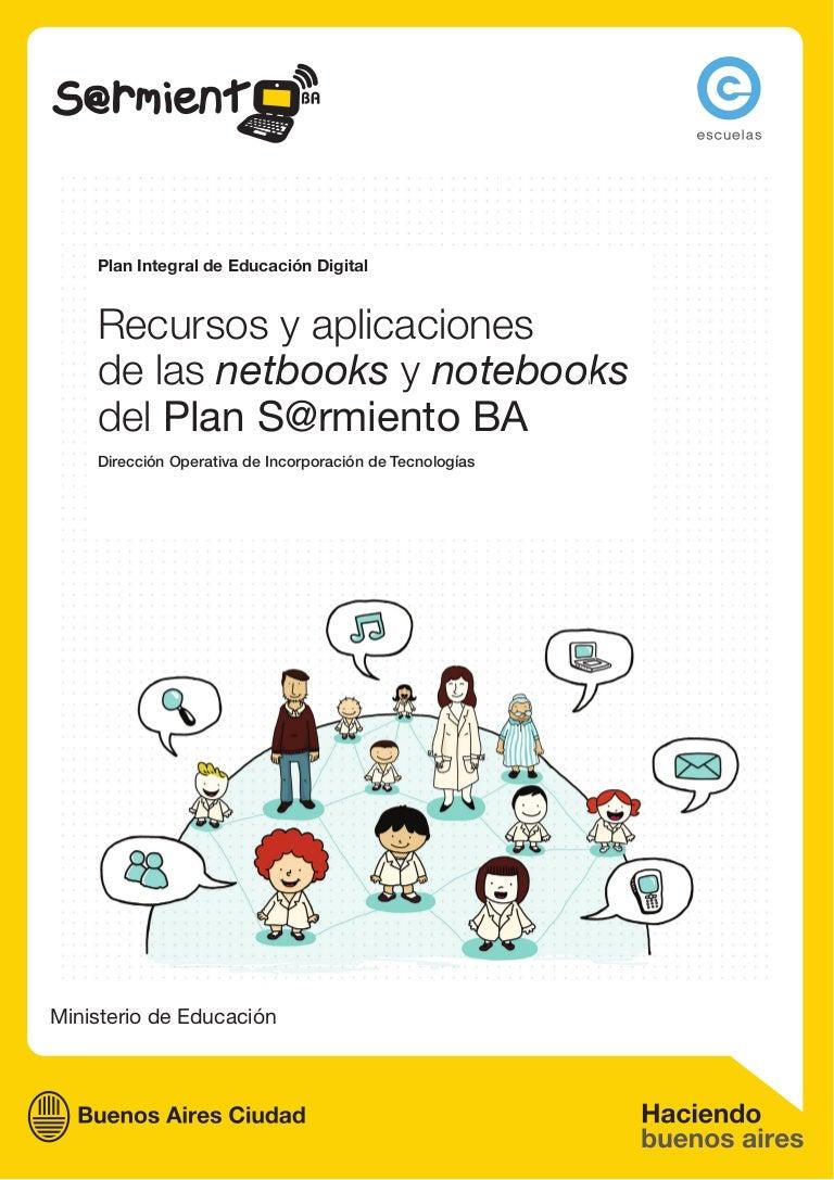 cc02d50b4bf7f Recursos y aplicaciones - Netbooks y notebooks - Plan Sarmiento BA