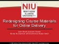 Redesigning Course Materials for Online Delivery