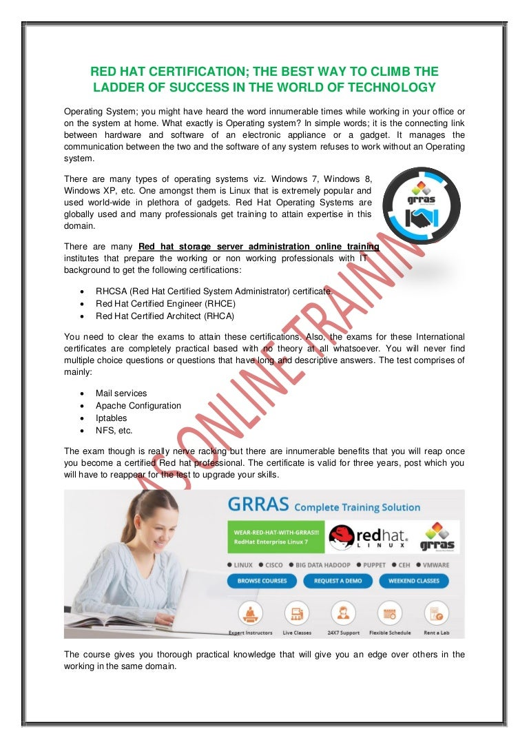 Red hat certification the best way to climb the ladder of success in xflitez Images