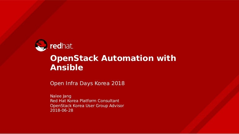Red Hat] OpenStack Automation with Ansible