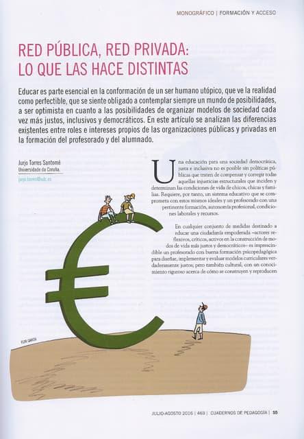 Red pública, red privada: lo que las hace distintas - Jurjo Torres Santomé