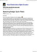 Reducing Design Cycle Times