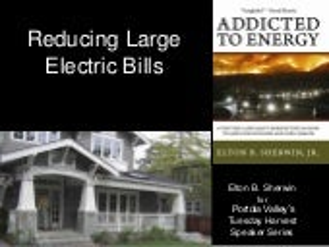Reducing Large Electric Bills